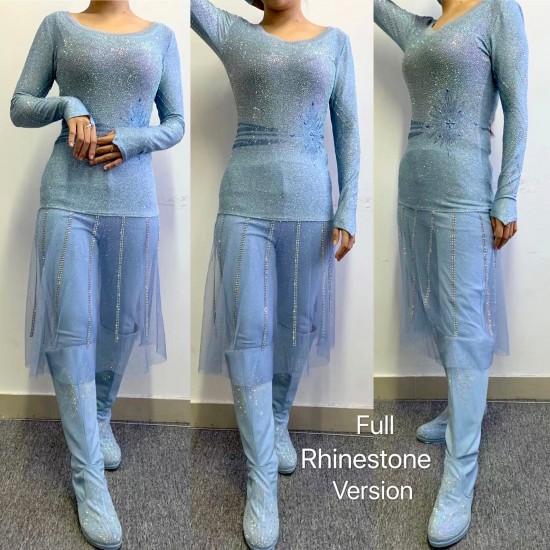 j886 Frozen2 Elsa dress costume new rhinestone version