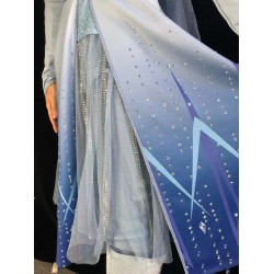 j887 Frozen2 Elsa dress costume new FULL rhinestone version