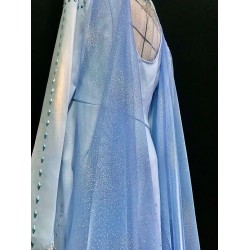 j886 Frozen2 Elsa dress costume new rhinestone version