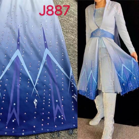 j887 Frozen2 Elsa dress costume new FULL rhinestone version