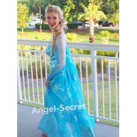 J888  women Elsa Cosplay Costumes