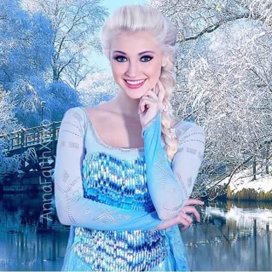 J888  women Elsa Cosplay Costumes