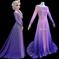 j901 Frozen2 Elsa dress costume printing version