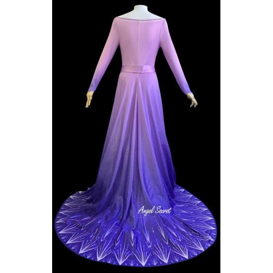 j901 Frozen2 Elsa dress costume printing version