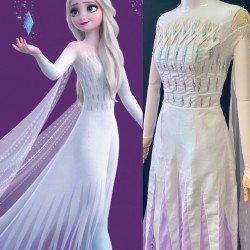 J908 Frozen2 Elsa dress costume show yourself five spirit