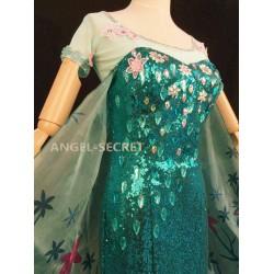 J919 FROZEN FEVER ELSA green dress whole set
