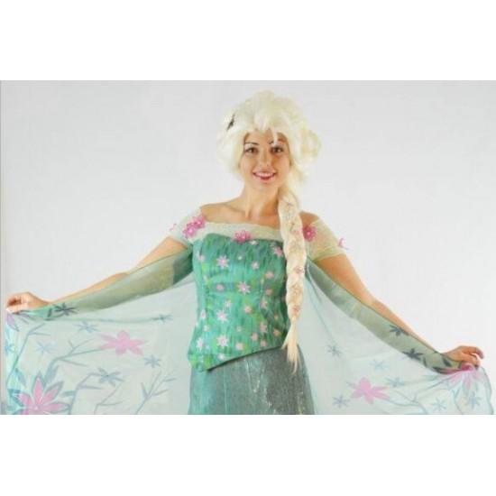 J979 frozen fever Elsa spring full set CORSET+SLEEVES+SKIRT+CAPE