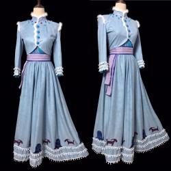 J995 OLAF'S FROZEN ADVENTURE Anna dress embroidery version