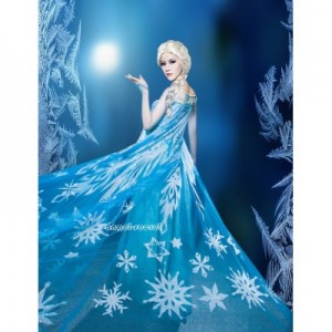 j999 Elsa costume with CL8 park version cape