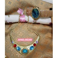 JL01 jasmine new headband and necklace gold cosplay accessories