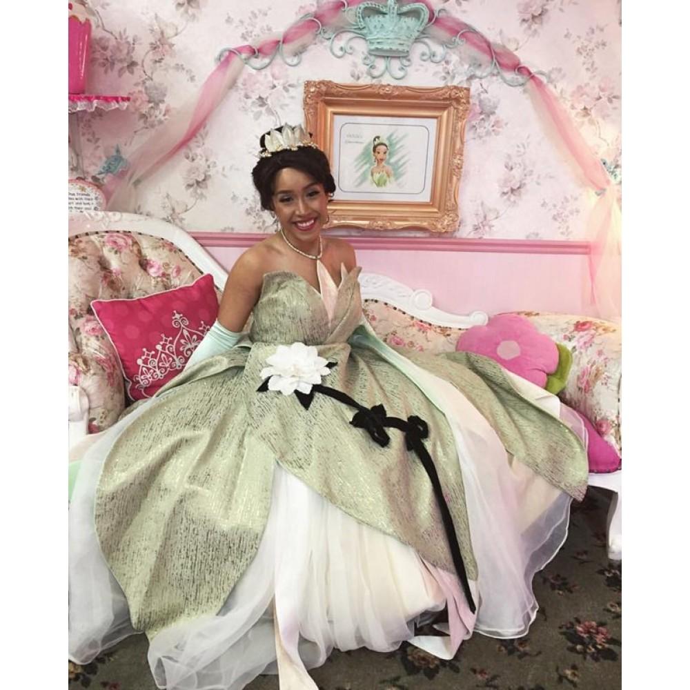 Princess Tiana Dress: Tiana-disney-princess-costume-dress-green-down.html