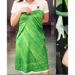 MAT256 Tinkerbell leaf print fabric