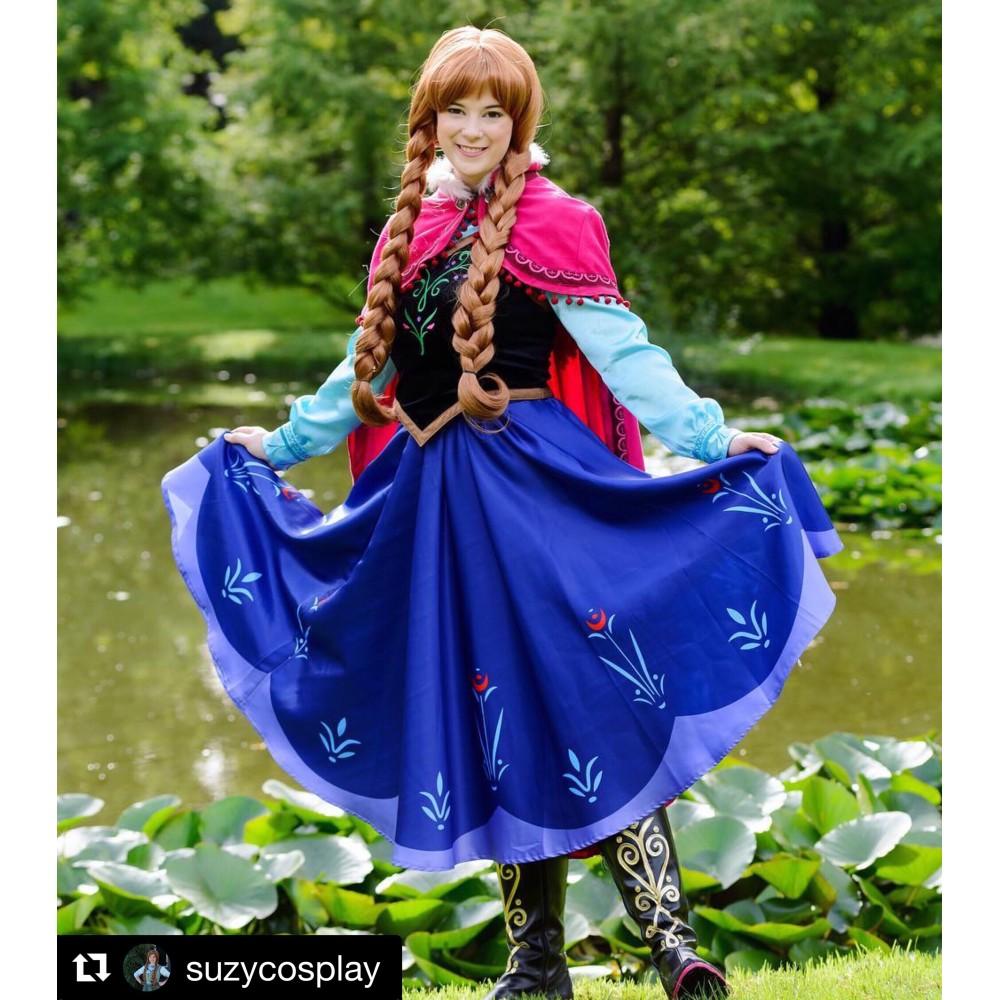 N78 Movies princess ANNA Cosplay Costume Dress tailor made ...