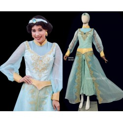 P075 Jasmine costume movie cosplay princess party long sleeves custom made