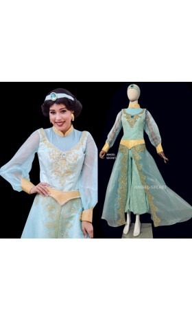 P075 Jasmine costume movie cosplay princess party long sleeves custom made