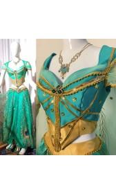 P076 Jasmine costume movie cosplay princess party long sleeves custom made 2019