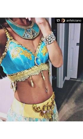 P077 New Jasmine  pant, bra and jewelry only