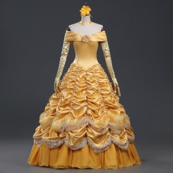 P113  beauty and beast princess belle Costume