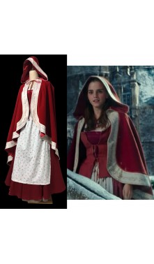 P117 Live action 2017 Belle Beauty and the beast cape cloak and dress full set