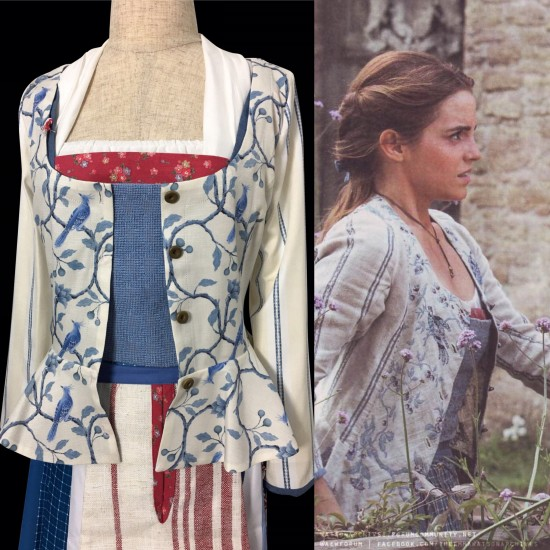 P121 COSPLAY beauty and beast jacket princess belle Costume tailor made 2017 version