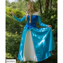 P136B  Princess sleeping beauty Costume blue version