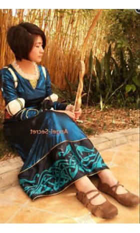 P160 Merida dress brave costume