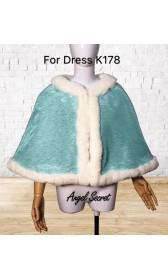 K178 Ariel teal sequins gown park version with swarovski brooch