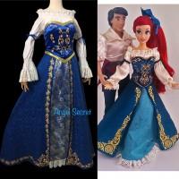 P179 Ariel doll version costume shirt+corset+skirt+Hair bow