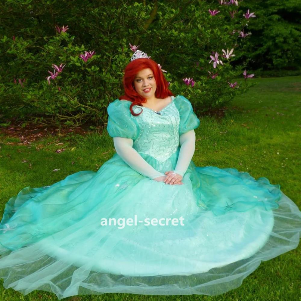 p180 little mermaid aqua custom gown princess ariel teal
