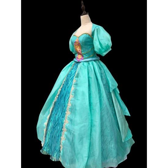 P181 Movies Cosplay Costume movie pink Ariel princess dress