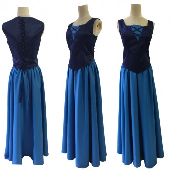 P189 Little Mermaid Aqua Custom gown Vanessa