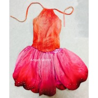 P279 rosetta fairy velvet and chiffon top and skirt
