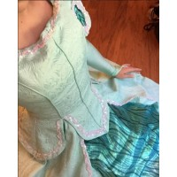 P290 Movies Cosplay Costume movie teal Ariel princess dress with sequins green