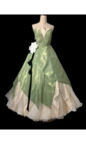 P338 TIANA DISNEY PRINCESS COSTUME DRESS GREEN GOWN