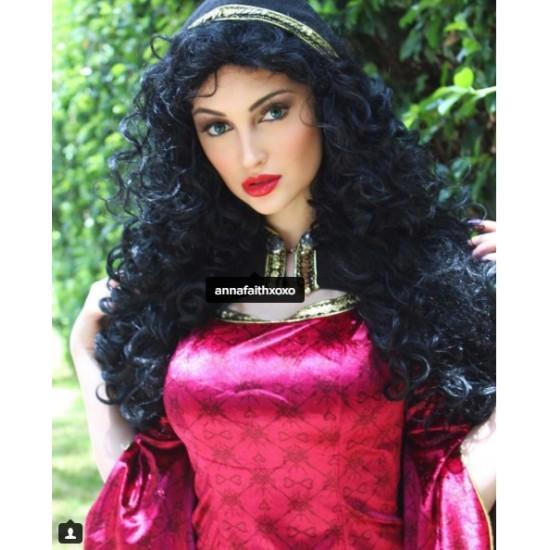 P344 Mother Gothel Rapunzel Tangled PRINCESS PARTY COSPLAY COSTUME DRESS CLOAK