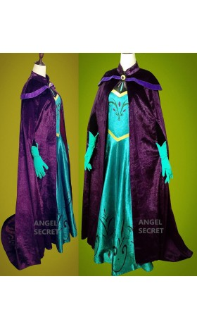 P345 Frozen ice snow Queen ELSA Cosplay coronation costume for transformation