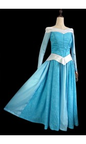 P375  Aurora sleeping beauty Cosplay Costume Dress tailor made women princess