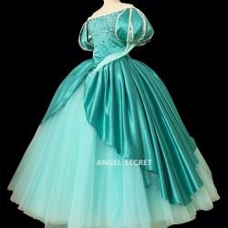 P395 Ariel mermaid Cosplay Costume Dress tailor made women princess green gown