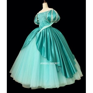 P395  Ariel mermaid Cosplay Costume Dress tailor made women princess green gown