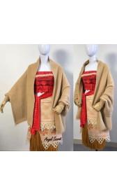 P700 Moana winter cape knitting wrap