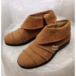 PES1 Peter pan shoes peterpan faux Suede Flat Shoe