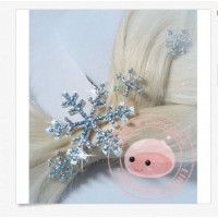 PN1  Frozen Elsa Snow HAIRPIN snowflakes PINS (ElRLS)
