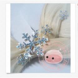 PN1  Frozen Elsa Snow HAIRPIN snowflakes PINS (ElRLS)