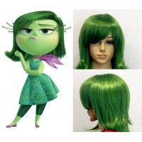 wg54 wig for inside out cosplay DISGUST GREEN short hair WOMEN ADULT