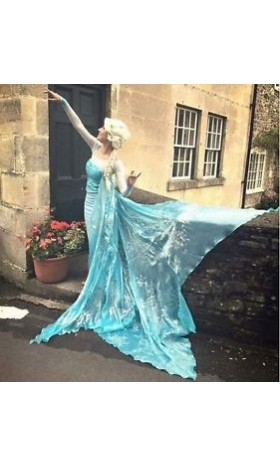 47bf30cd7a J711 Movies Frozen Snow Queen ELSA Cosplay Costume Dress CUSTOM tailor  HANDMADE