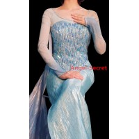 j999 Elsa performer costume with CL28 park version cape women adult frozen1 dress