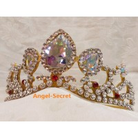 CR11 Crown of Rapunzel gold version rhinestone crystal princess crown party