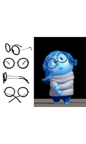 GLA1 GLASS FRAME for inside out cosplay SADNESS WOMEN ADULT