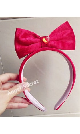 HB13 red Halloween snow white Princess Cosplay hair band Tiara Costume bow