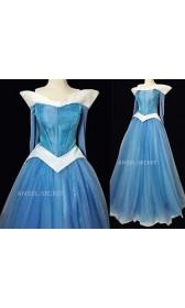 P940 COSPLAY  blue Dress Princess sleeping beauty Costume Aurora women